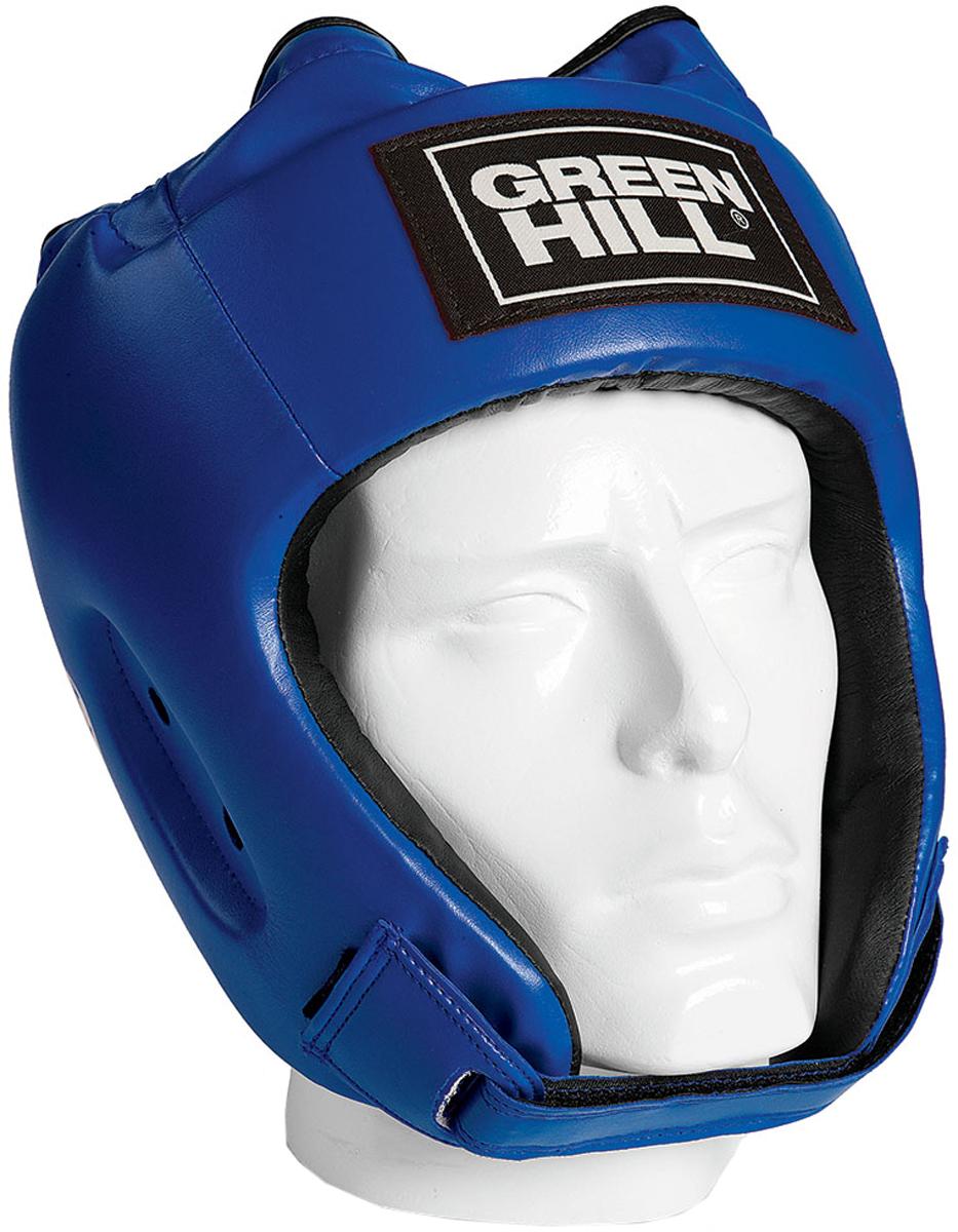 Шлем боксерский Green Hill Alfa, цвет: синий. HGA-4014. Размер L цена