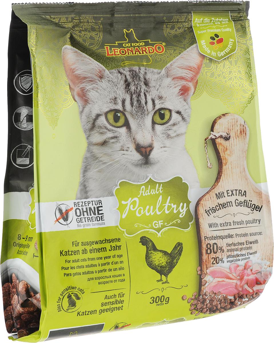 """Корм сухой Leonardo """"Adult Poultry GF"""", для взрослых кошек, беззерновой, с птицей, 300 г"""