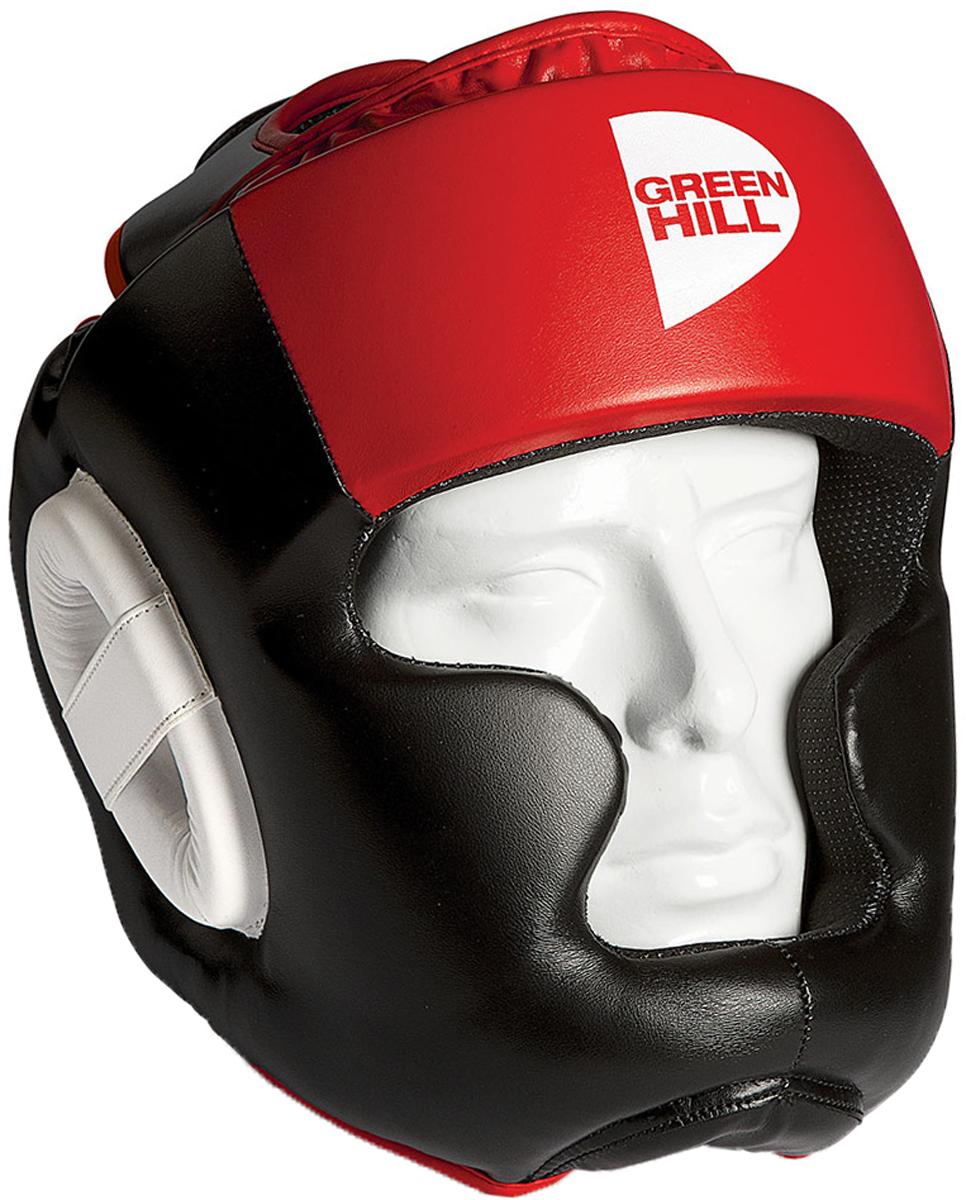 Шлем тренировочный Green Hill Poise, цвет: черный, красный. HGP-9015. Размер L шлем green hill poise hgp 9015 xl rd р xl иск кожа пу черно красный
