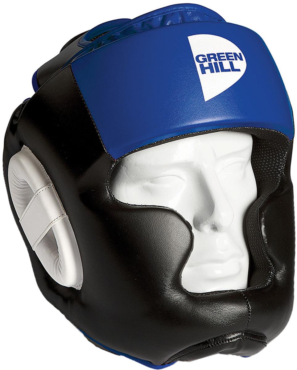 Шлем тренировочный Green Hill Poise, цвет: черный, синий. HGP-9015. Размер L цена