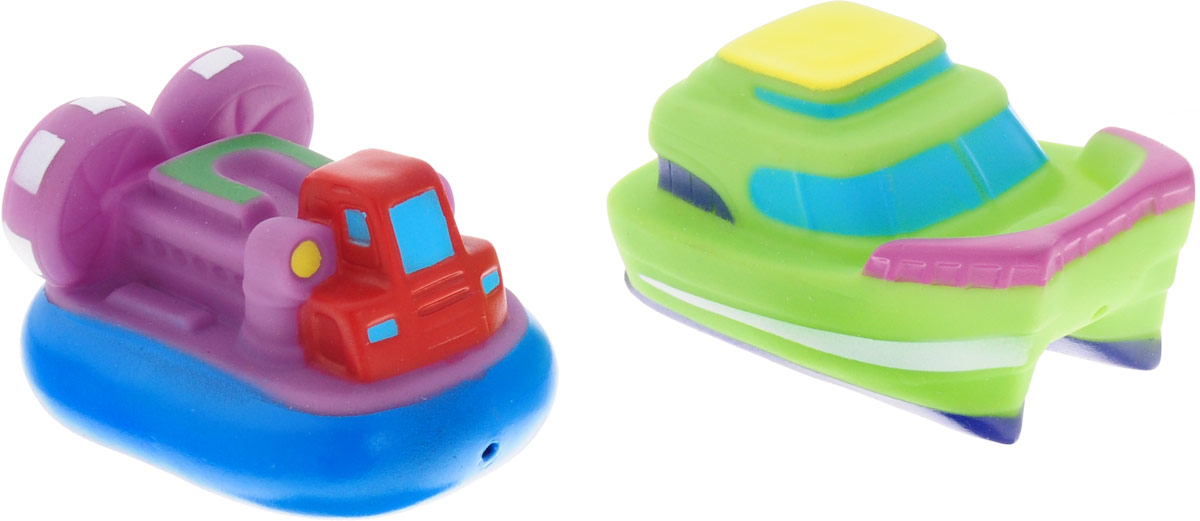ABtoys Игрушка для ванной Катер-брызгалка зеленый фиолетовый 2 шт игрушки для ванны hap p kid игрушка для купания брызгалка пингвиненок