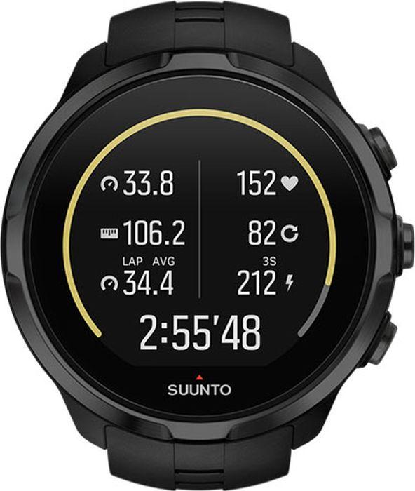 Спортивные часы Suunto Spartan Sport Wrist HR All Black, цвет: черный ремешок для спортивных часов suunto spartan sport whr gold strap qr