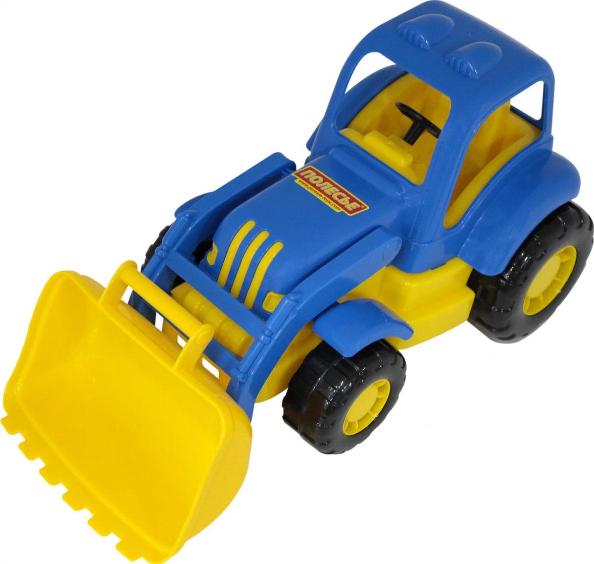 Полесье Трактор-погрузчик Силач, цвет в ассортименте трактор полесье трактор погрузчик умелец оранжевый 159238