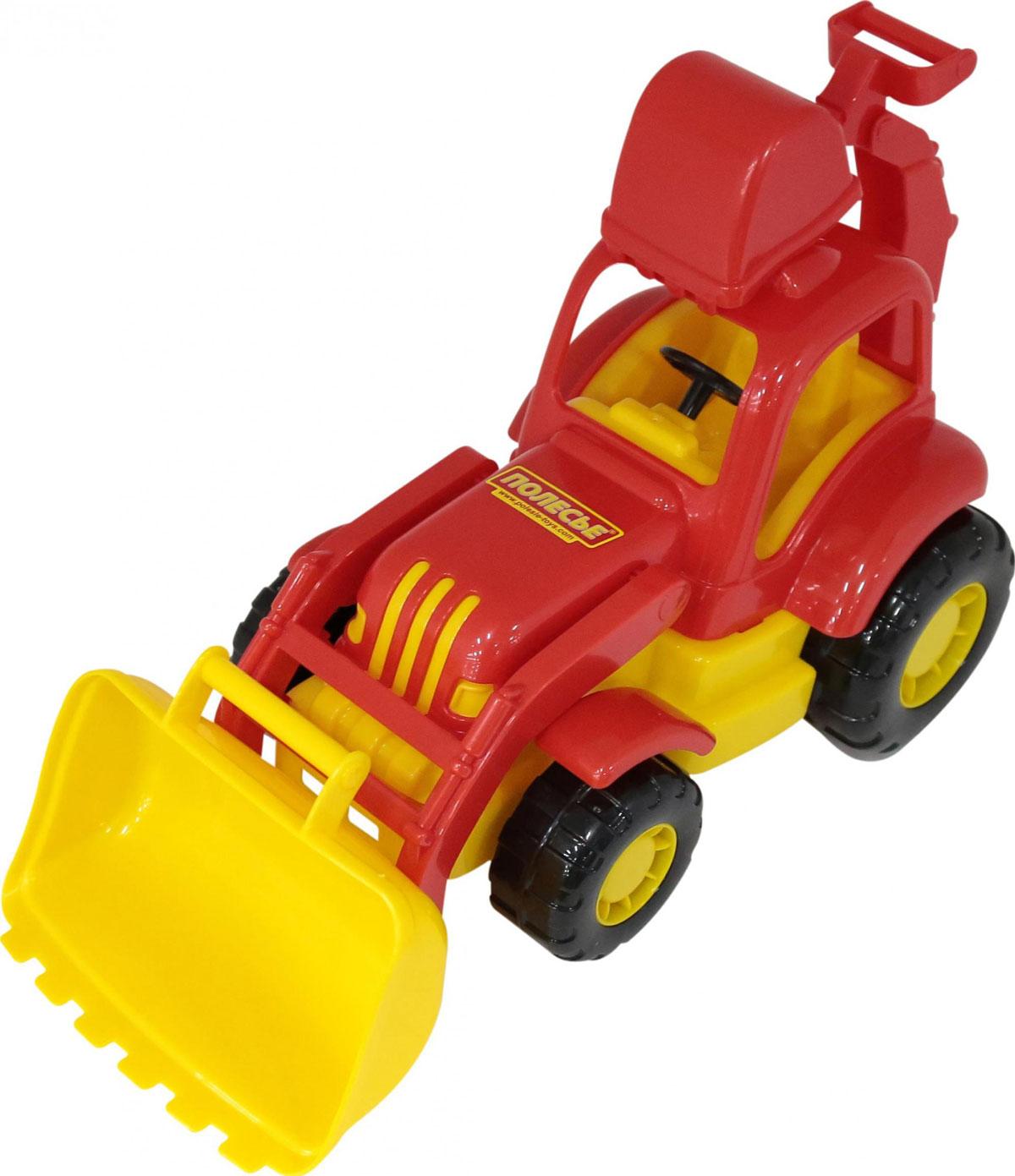 все цены на Полесье Трактор-экскаватор Силач, цвет в ассортименте онлайн