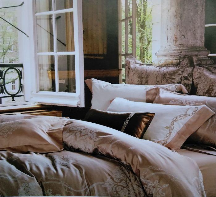 Комплект белья Soft Line, евро, наволочки 50x70, цвет: бежевый. 10143 цена