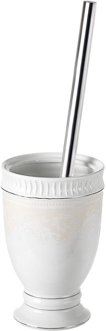 "Ершик для туалета Wess ""Elegance"", с подставкой, цвет: белый. G79-40"