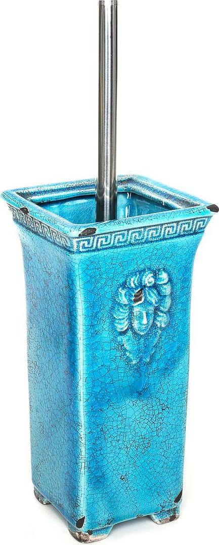 Ершик для туалета Wess Gorgelur, с подставкой, цвет: синий. G79-42 ершик для туалета wess elegance с подставкой цвет белый g79 40