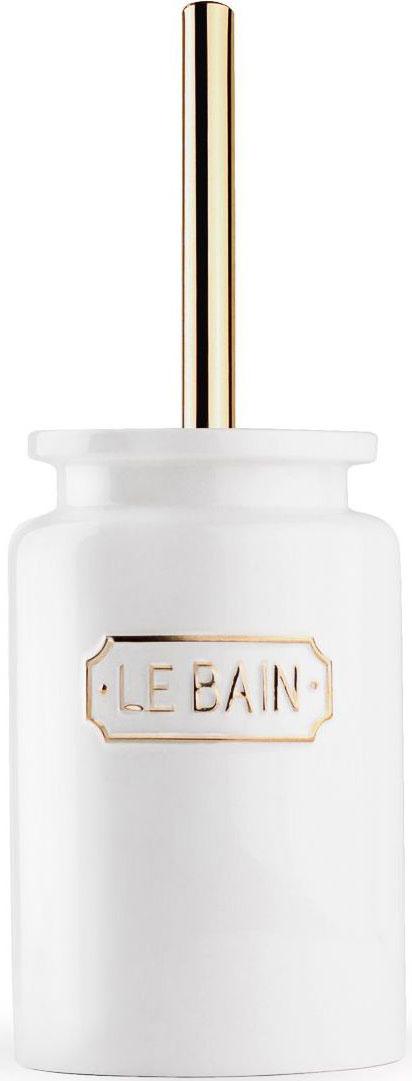 Ершик для туалета Wess Le Bain blanc, с подставкой, цвет: белый. G79-81 ершик для туалета home queen с подставкой цвет розовый