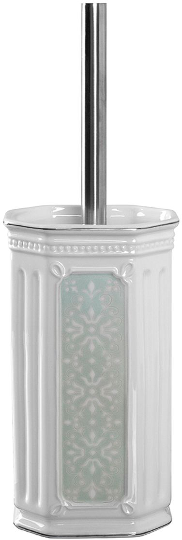 Ершик для туалета Wess Hermitage, с подставкой, цвет: белый. G79-84 ершик для туалета wess elegance с подставкой цвет белый g79 40