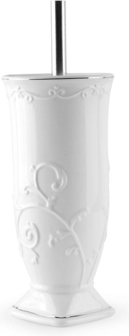 Ершик для туалета Wess Bohemia, с подставкой, цвет: белый. G79-86 ершик напольный для туалета nicolazzi classica 1491gb