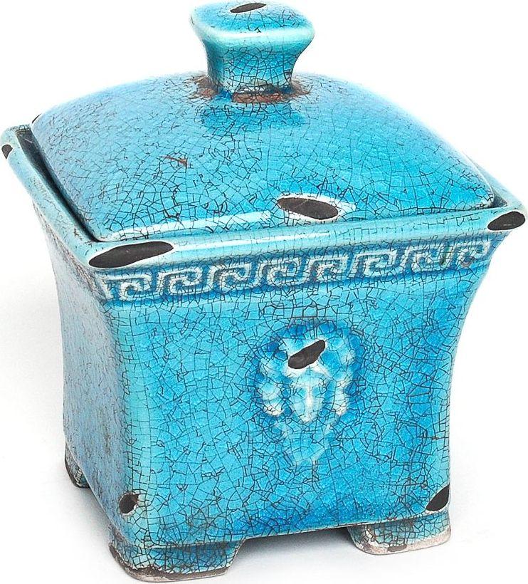 Шкатулка Wess Gorgelur, цвет: синий. G81-42 ершик для туалета wess gorgelur с подставкой цвет синий g79 42