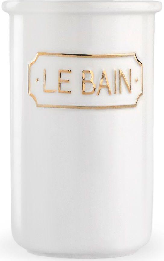 Стакан для зубных щеток Wess Le Bain blanc, цвет: белый. G85-81 стакан wess le bain gris керамика серый