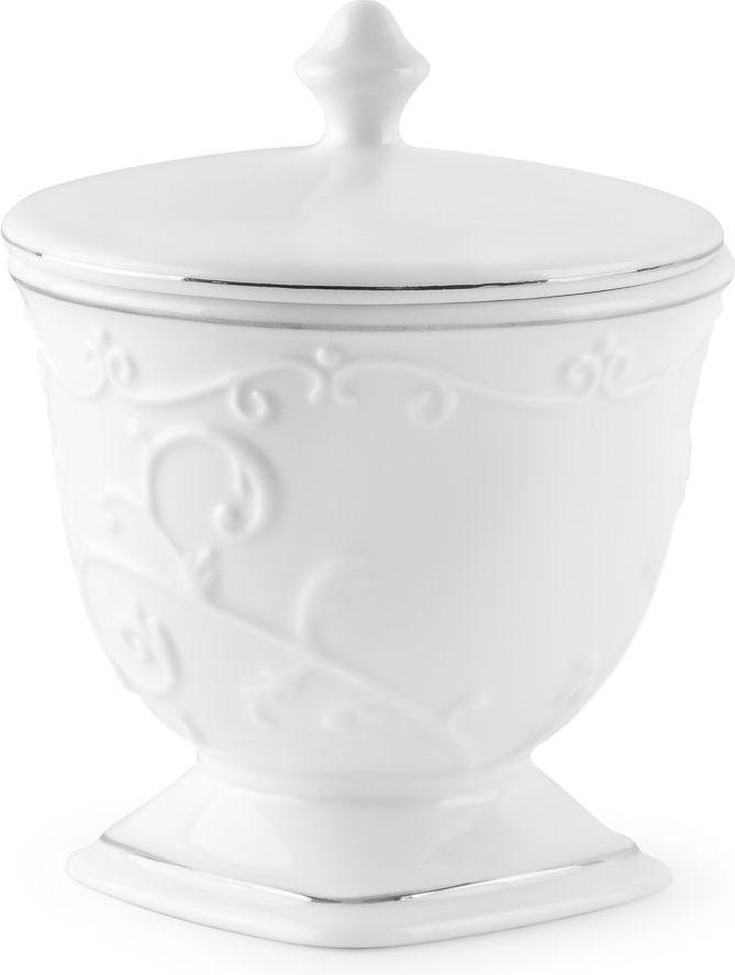 Контейнер для ватных дисков Wess Bohemia. G95-86G95-86Белоснежный контейнер для ватных дисков станет прекрасным дополнением интерьера в классическом стиле. Функциональность контейнера позволяет поддерживать порядок на полочках в ванной. Аксессуар выполнен из керамики и оснащен изящной крышечкой.