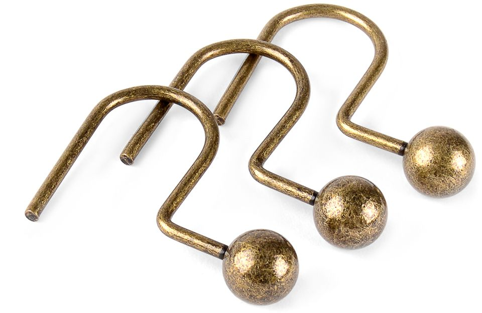 Кольца для карниза для ванной Moroshka Naturel, 12 шт кольца