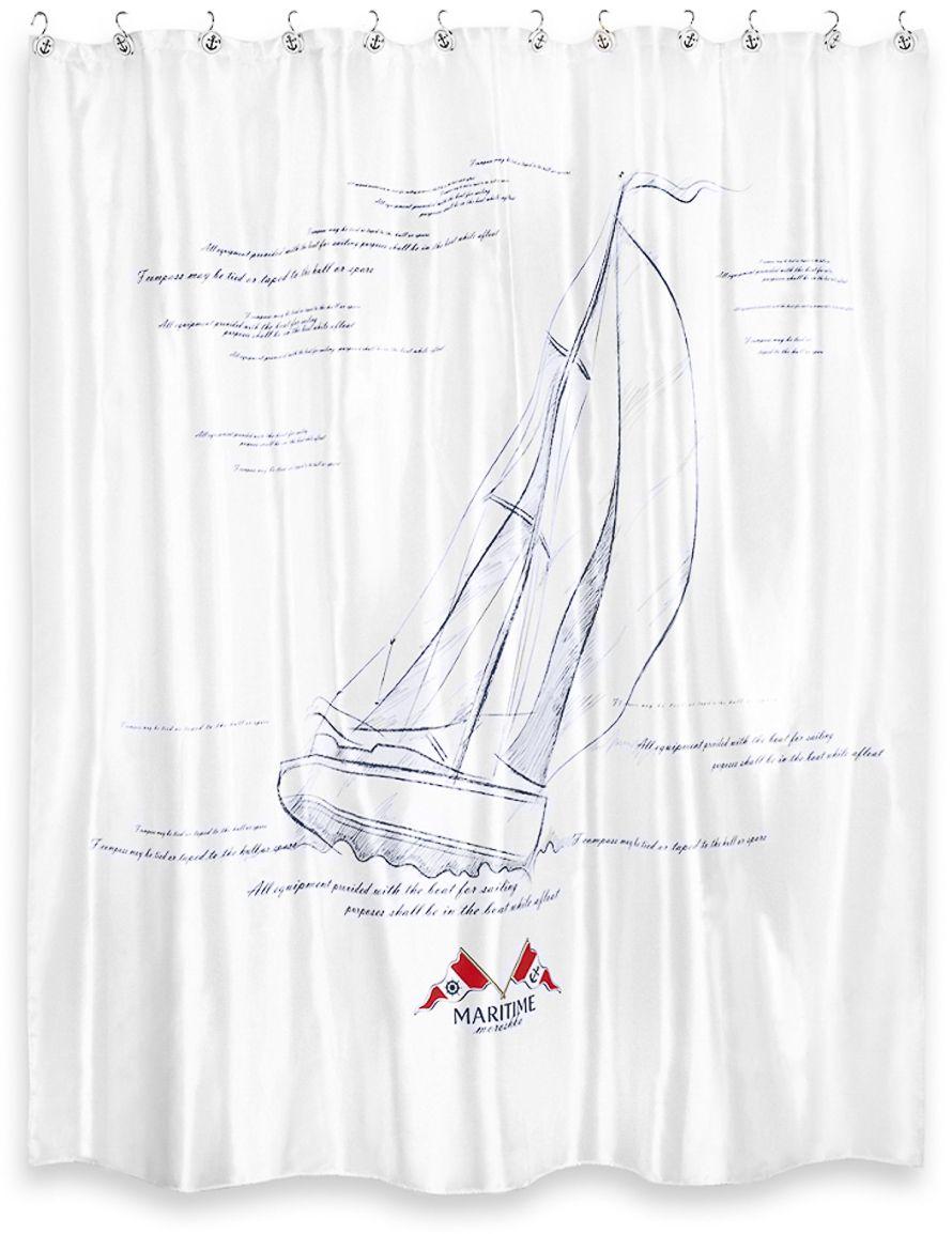 "Штора для ванной Moroshka ""Maritime"", 200 х 200 см. xx006-69"