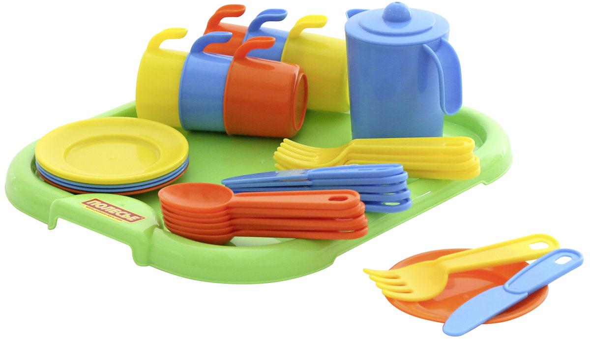 цена на Полесье Набор игрушечной посуды Анюта 3896, цвет в ассортименте