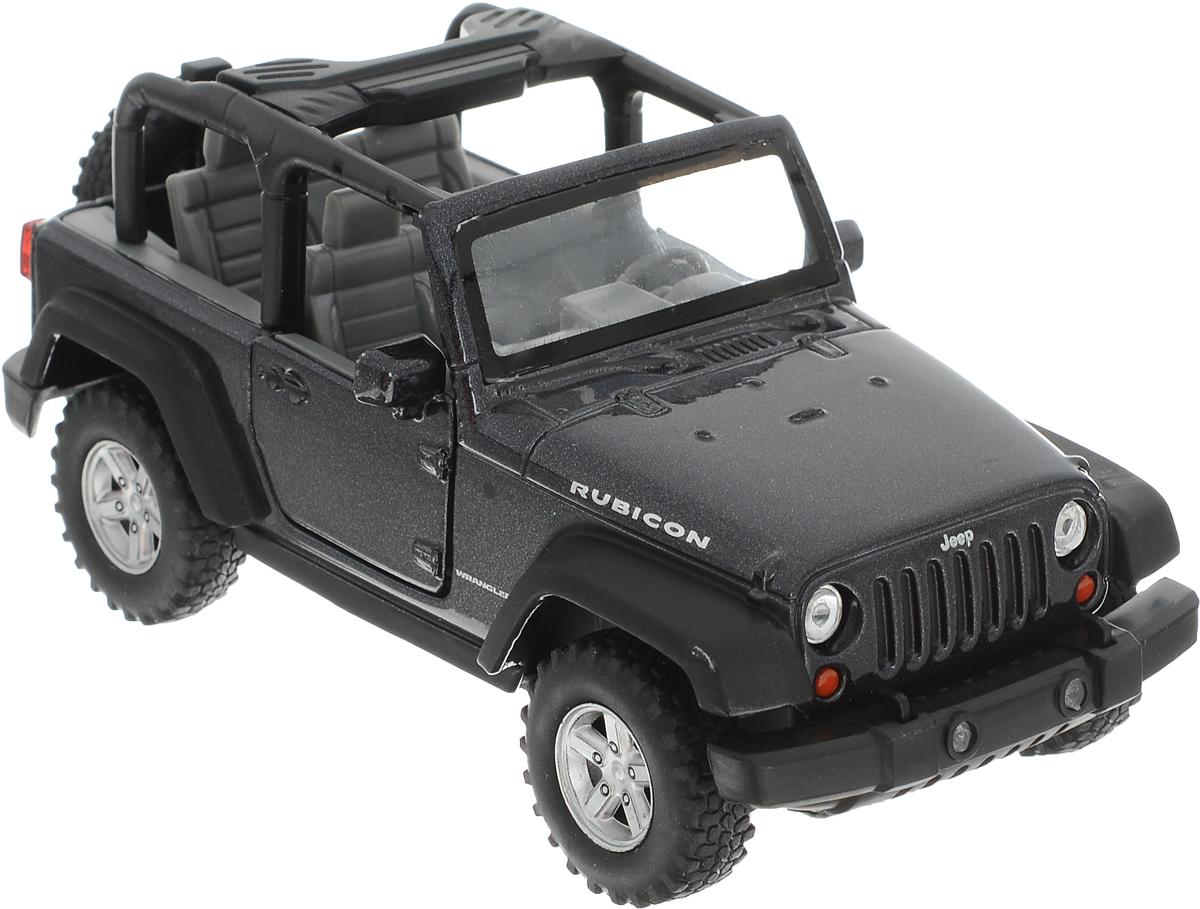 цена на Welly Модель автомобиля Jeep Wrangler Rubicon цвет черный