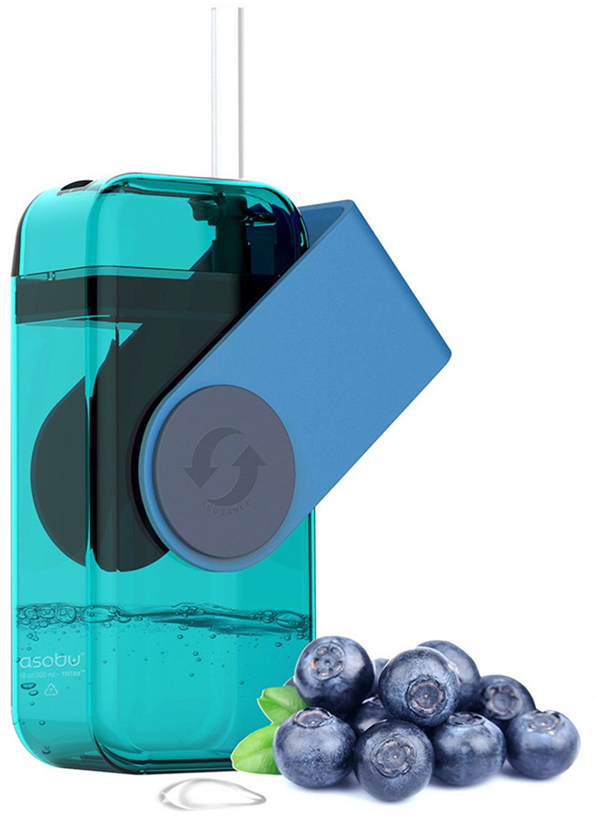 Бутылка Asobu Juicy drink box, цвет: голубой, 290 мл