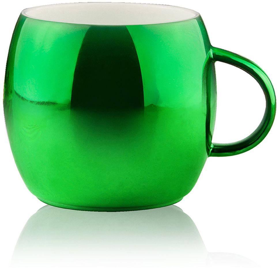 Кружка Asobu Sparkling mugs, цвет: зеленый, 380 мл термокружка 0 38 л asobu sparkling mugs голубая mug 550 blue