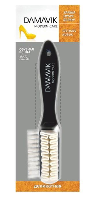 Щетка для обуви Damavik, для замши, нубука, велюра щетка для замши нубука и велюра штрих основной уход тройная цвет фиолетовый белый