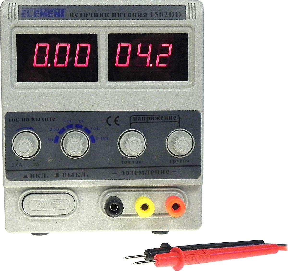 "Лабораторный блок питания Element ""1502DD"", 15V 2A"
