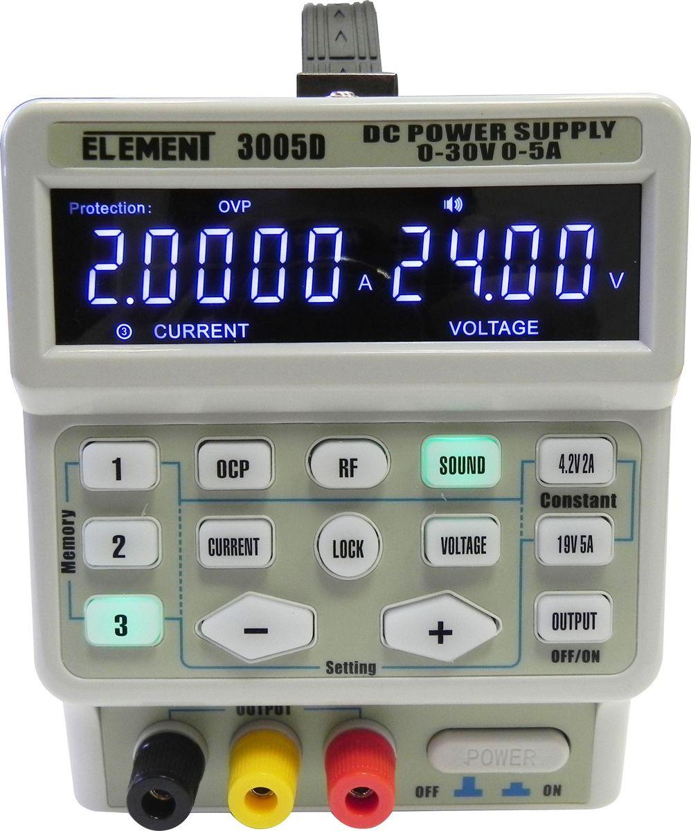 Лабораторный блок питания Element 3005D, 30V 5A импульсный источник питания delixi tnd 2kva