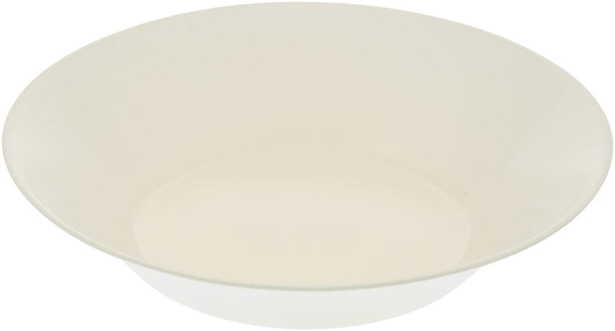 Тарелка глубокая Pasabahce Беж Сити, цвет: бежевый, диаметр 22 см тарелка глубокая gotoff цвет фисташковый диаметр 18 5 см