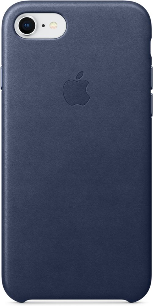 Apple Leather Case чехол для iPhone 7/8, Midnight Blue