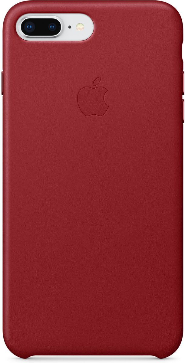 Apple Leather Case чехол для iPhone 7 Plus/8 Plus, Product Red недорого