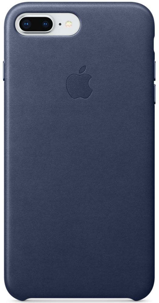 Apple Leather Case чехол для iPhone 7 Plus/8 Plus, Midnight Blue недорого