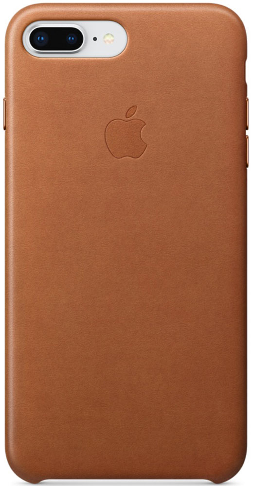 Apple Leather Case чехол для iPhone 7 Plus/8 Plus, Saddle Brown цена и фото