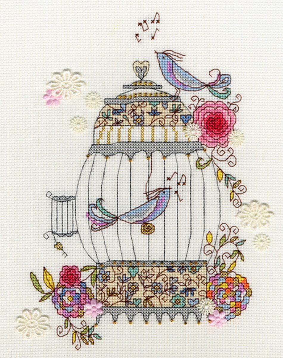 Набор для вышивания крестом Bothy Threads Любимые птицы, 20 x 25 см набор для вышивания крестом кларт лицо птицы 8 x 13 см