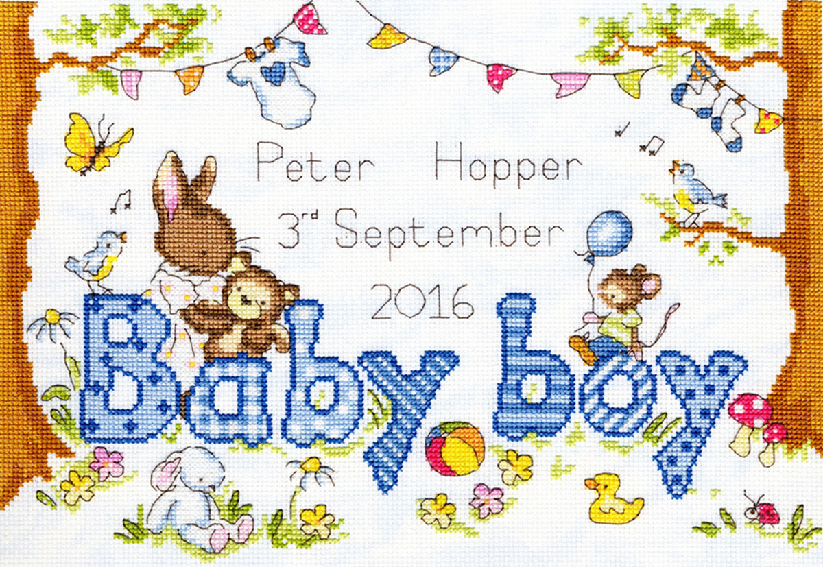 Набор для вышивания крестом Bothy Threads Любимый крольчонок, 32 x 21 см набор для вышивания крестом bothy threads мышка шьет 18 x 18 см