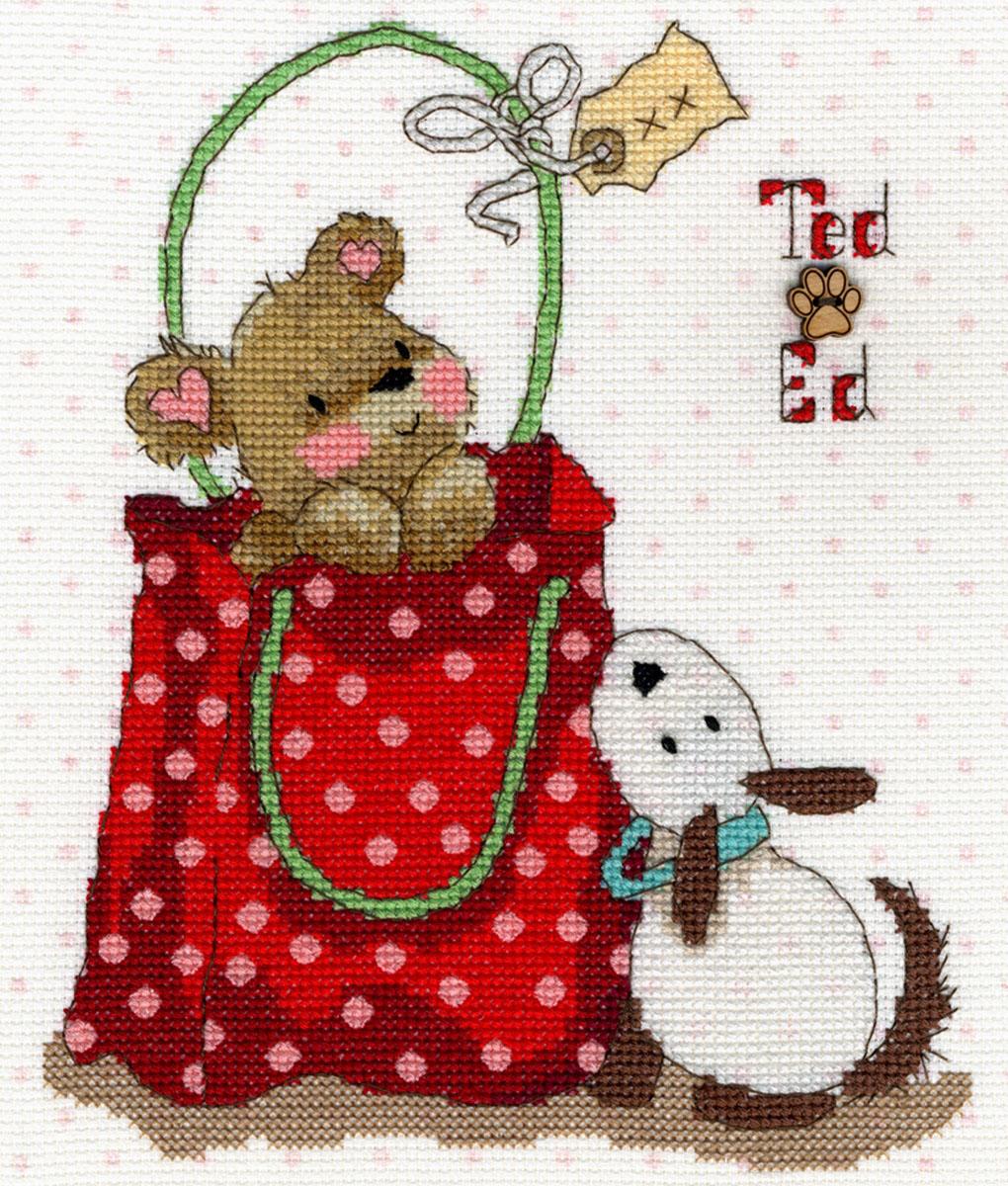 Набор для вышивания крестом Bothy Threads В сумочке, 17 x 20 см набор для вышивания крестом bothy threads мышка шьет 18 x 18 см
