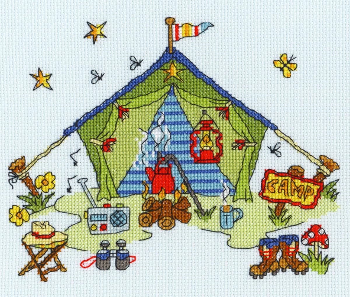 Набор для вышивания крестом Bothy Threads Палатка, 20 x 15 см набор для вышивания крестом bothy threads мышка шьет 18 x 18 см