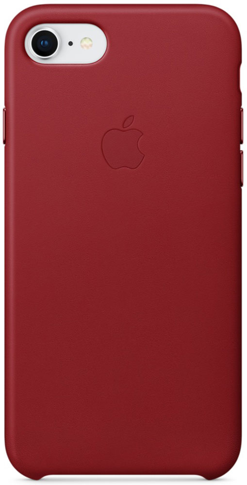 Apple Leather Case чехол для iPhone 7/8, Product Red