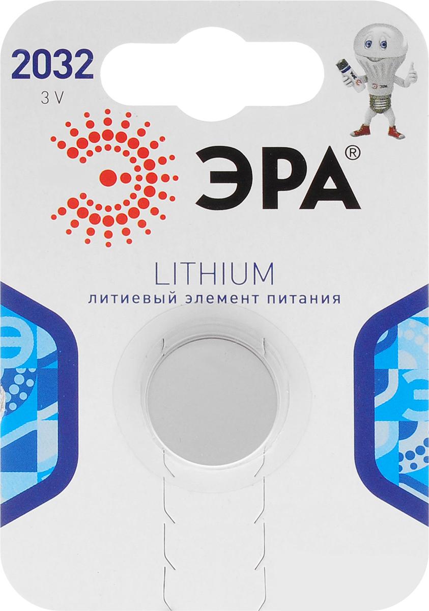 Батарейка литиевая ЭРА Energy, тип CR2032 (1BL), 3В батарейка алкалиновая эра energy тип a27 1bl 12в