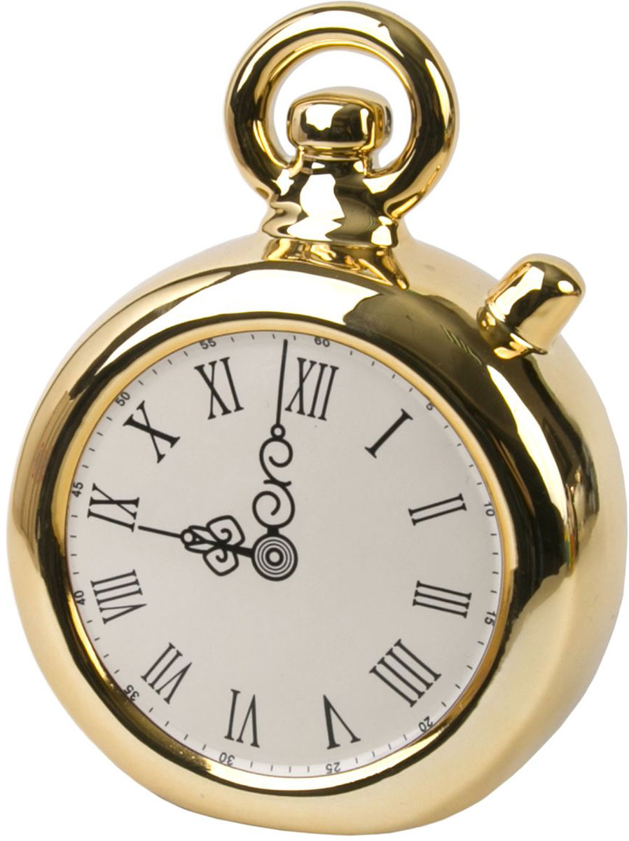 Копилка декоративная Magic Time Часы, цвет: золотой, 12 х 5,7 х 15,8 см декоративная копилка magic time свин путешественник 12 х 7 х 9 см