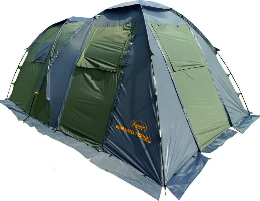 Палатка Canadian Camper GRAND CANYON 4, цвет: зеленый, серый