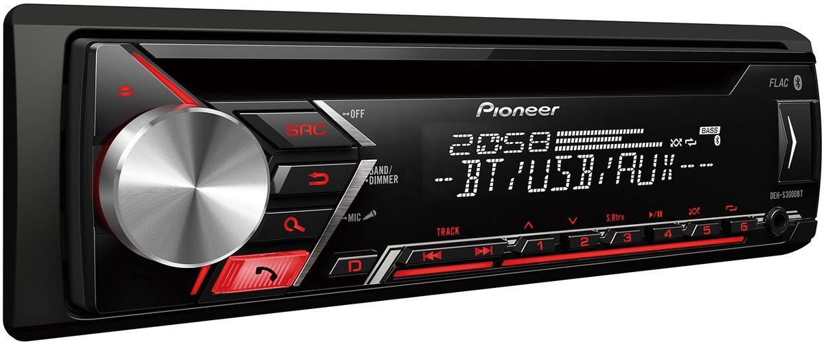 Pioneer DEH-S3000BT автомагнитола автомагнитола pioneer deh x2900ui usb