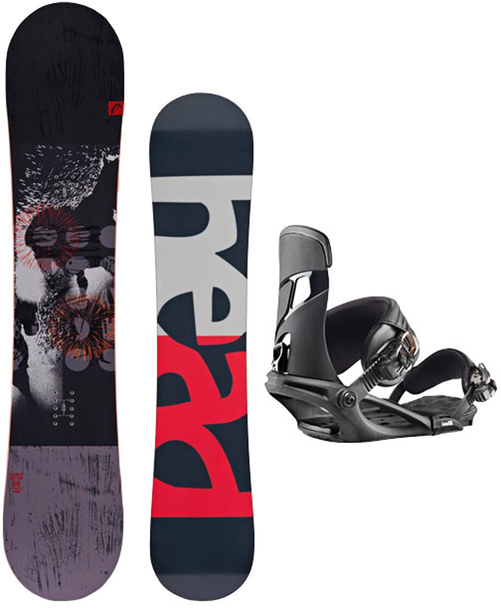 Сноуборд Head Course, с креплениями NX One, цвет: черный, серый, красный. Ростовка 159W см