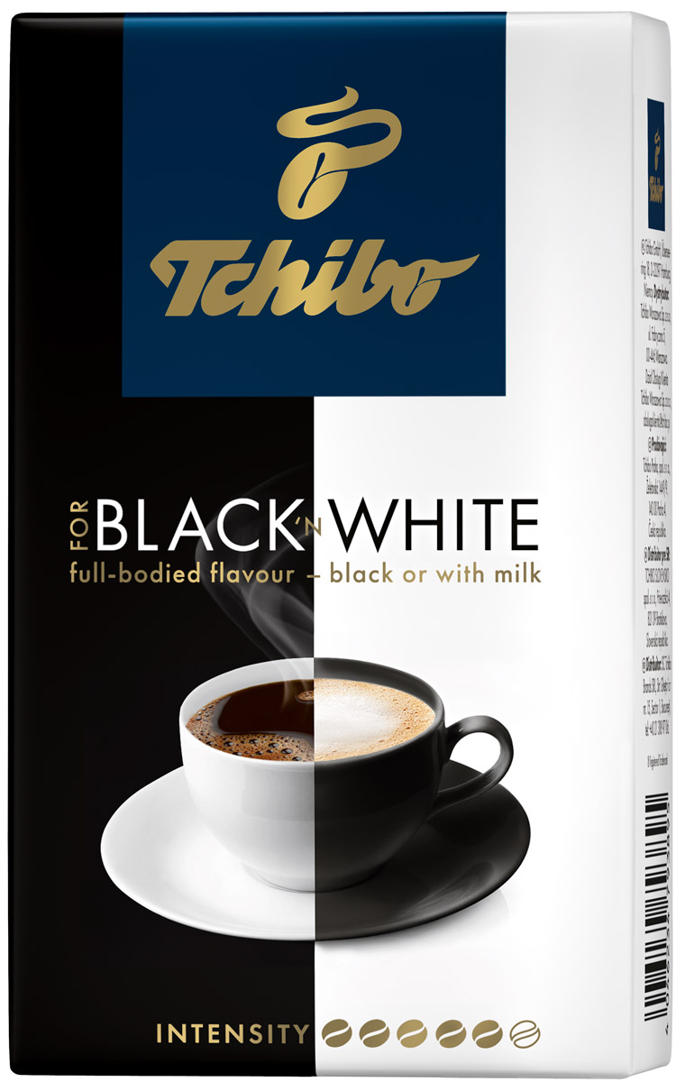 где купить Tchibo Black and White кофе молотый, 250 г дешево