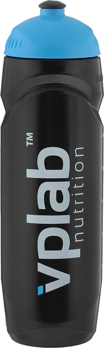 """Бутылка спортивная """"VP Laboratory"""", цвет: черный, голубой, 750 мл"""