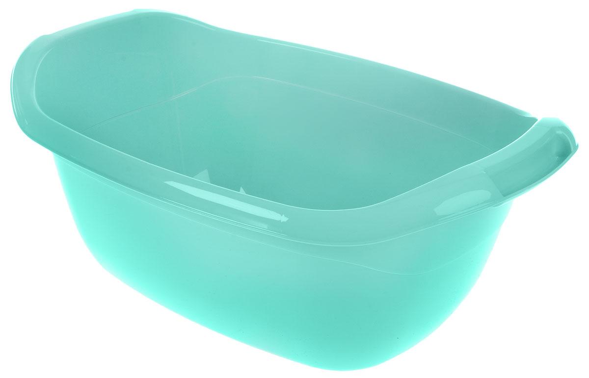 "Таз ""Idea"", овальный, цвет: аквамарин, 22 л, 57 х 39 х 23 см"