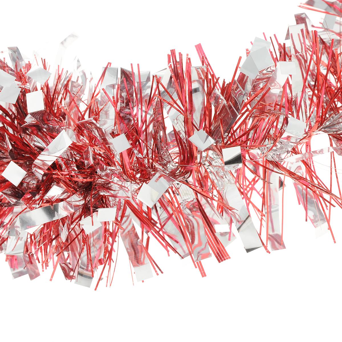Мишура новогодняя Magic Time цвет  красный серебристый 75 х 200 см  75785