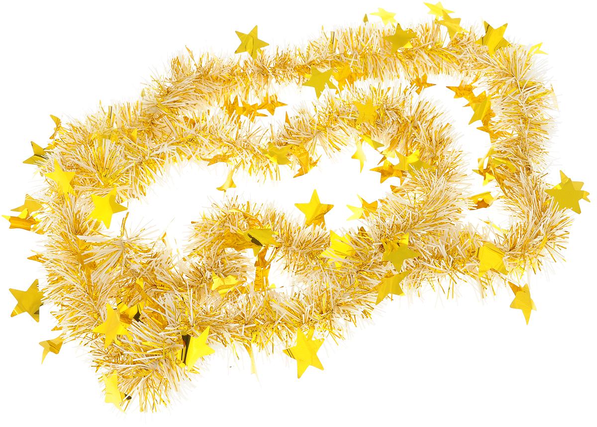 Мишура новогодняя Magic Time, цвет: золотистый, 6 х 200 см. 75742 стеллажи 6 дверные