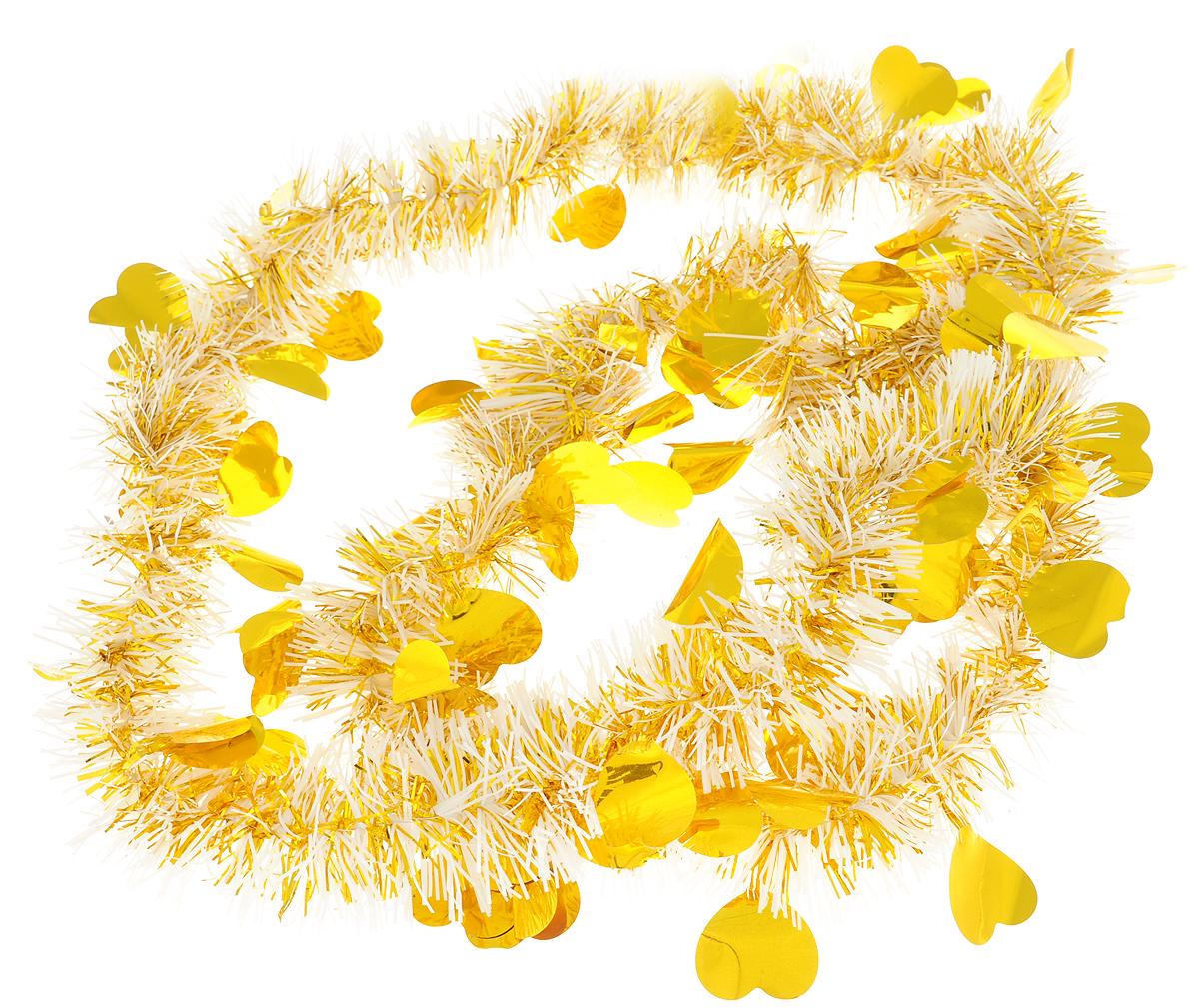 "Мишура новогодняя ""Magic Time"", цвет: золотистый, 6 х 200 см. 75736"