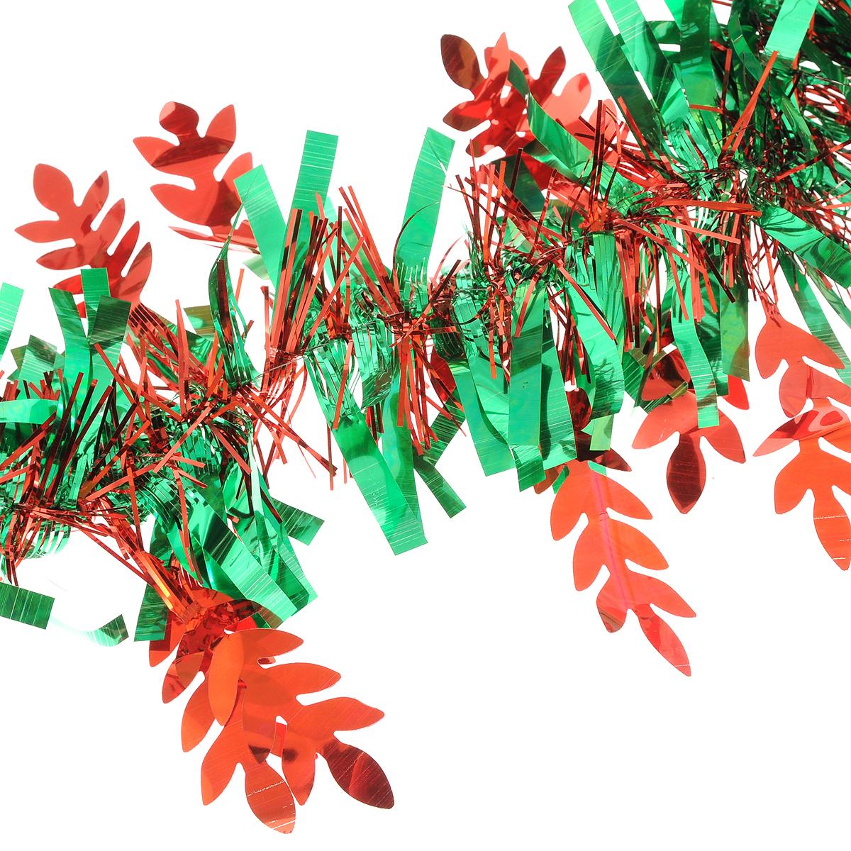 Мишура новогодняя Magic Time цвет  зеленый красный 9 х 200 см  75786