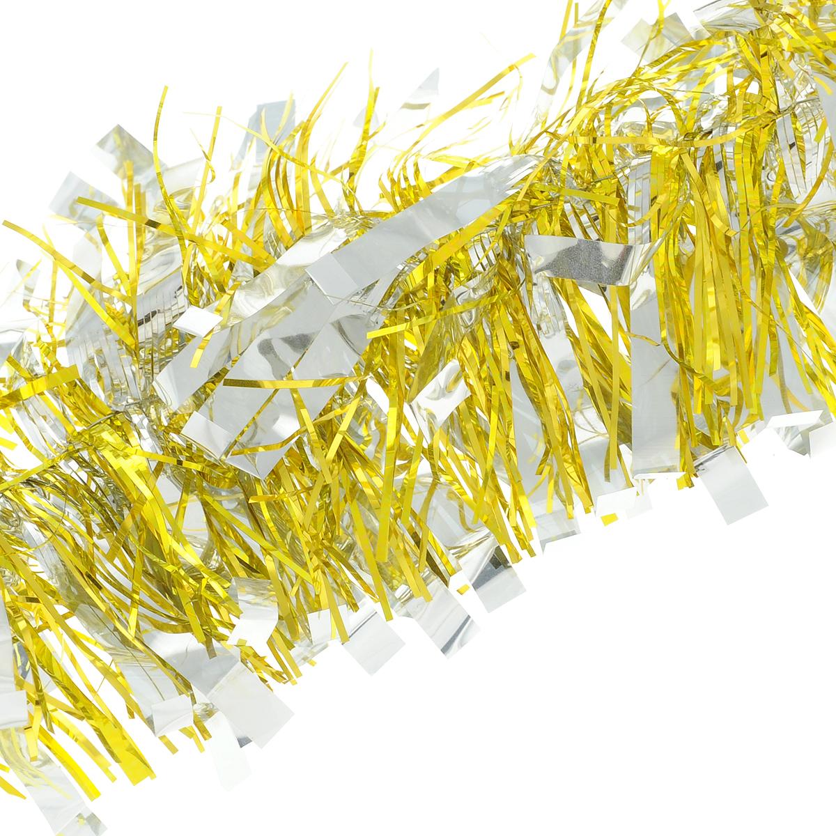 Мишура новогодняя Magic Time цвет  золотистый серебристый 75 х 200 см  75784