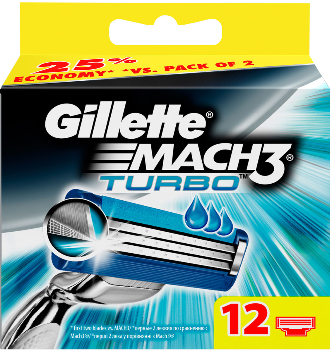 Сменные кассеты Gillette Mach3 Turbo для мужской бритвы, 12 шт free shipping best picture books for children 100 first english words sticker book